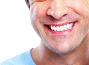 man's attractive smile